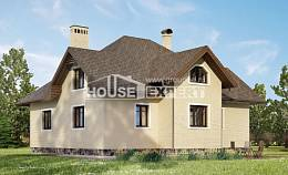 275-003-R Two Story House Plans with mansard with garage in front, a huge Timber Frame Houses Plans,