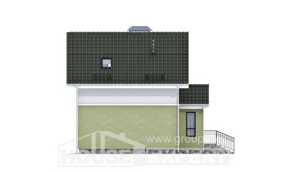 070-001-R Two Story House Plans with mansard roof, the budget Design House,