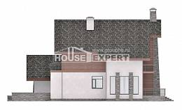 270-003-L Two Story House Plans with mansard with garage, spacious Cottages Plans,