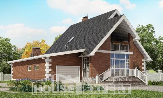 220-002-L Two Story House Plans with mansard with garage under, luxury Online Floor,