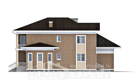 335-002-R Two Story House Plans with garage in front, classic House Blueprints,
