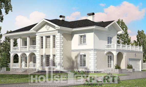 340-002-R Two Story House Plans with garage under, big Planning And Design,