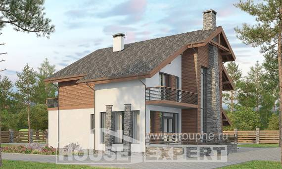 270-003-L Two Story House Plans with mansard and garage, spacious Home House,
