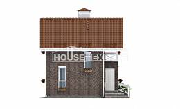 045-001-L Two Story House Plans with mansard roof, economy House Blueprints,