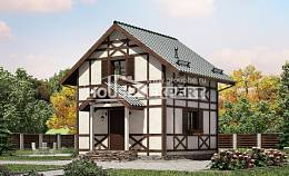 060-002-R Two Story House Plans with mansard roof, economical Plans To Build,