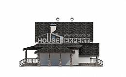 160-002-L Two Story House Plans with mansard roof with garage, modest Home Blueprints,