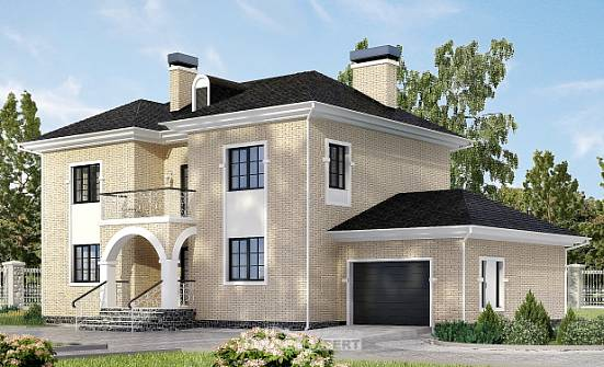 180-006-R Two Story House Plans with garage in front, cozy Building Plan,