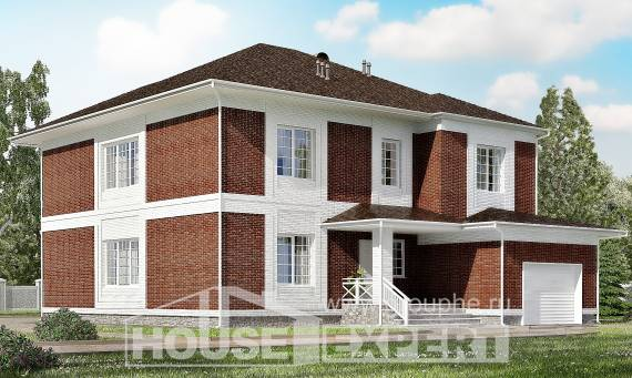 315-001-R Two Story House Plans with garage, spacious Home Blueprints,