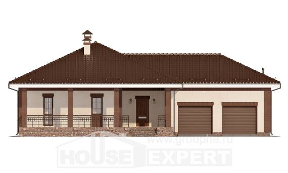 160-015-R One Story House Plans and garage, economical House Blueprints,