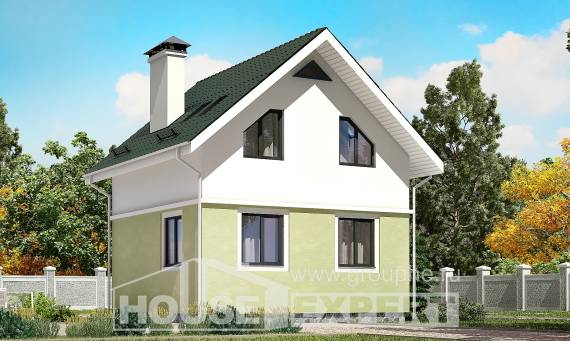 070-001-R Two Story House Plans and mansard, cozy Online Floor,