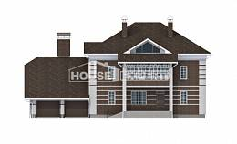 505-002-L Three Story House Plans with garage under, spacious Planning And Design,