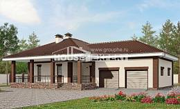 160-015-R One Story House Plans with garage under, economical Plan Online,