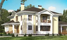 375-002-L Two Story House Plans with garage under, a huge House Plans,