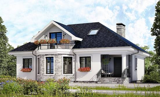 150-008-R Two Story House Plans with mansard roof, classic Dream Plan,