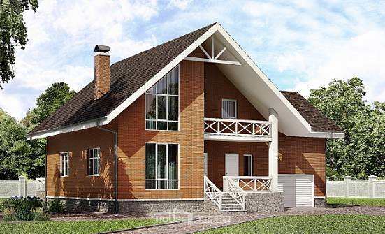 215-001-R Two Story House Plans with mansard roof with garage in back, a simple House Building,